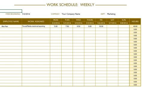 labor schedule templates  ms word  ms excel