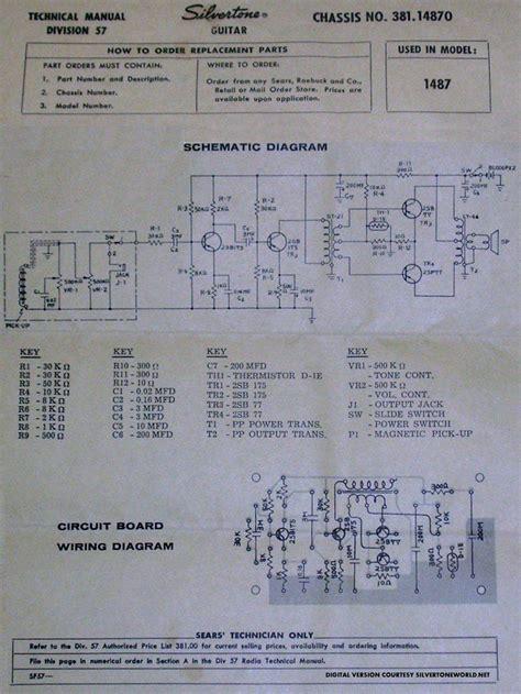 silvertone electric guitar wiring diagram 41 wiring