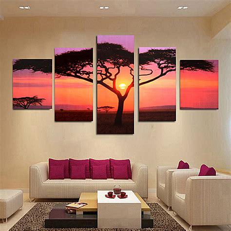 5pcs arbre tableau peinture 224 huile toile abstraite pr mural salon chambre d 233 cor achat vente