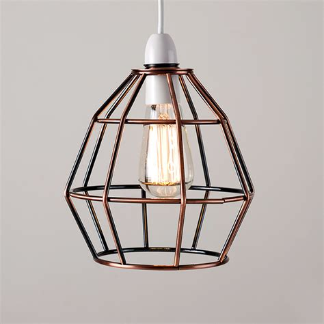 cage ceiling light copper vintage industrial style cage ceiling pendant light