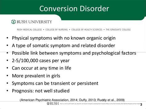 american phsycological association rounds presenation conversion disorder