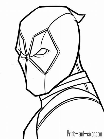 Deadpool Coloring Pages Face