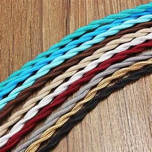 Hot Sale 1m 2 Core Vintage Twist Electrical Wire Color