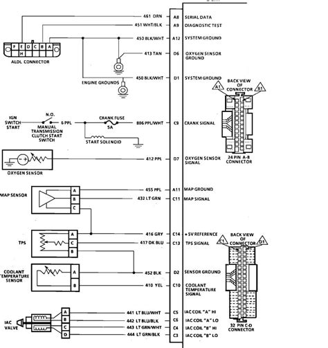 Gm Engine Wiring Diagram by I Need The Complete Wiring Diagram And Pin Designation For