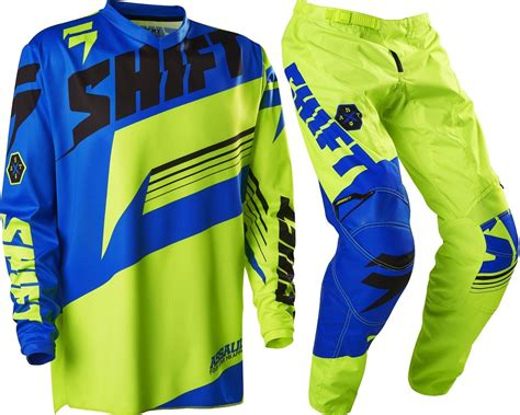 kids motocross jersey new shift youth mx gear assault yellow blue motocross kids