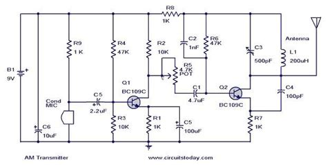 Diy Transmitter Circuit Diagram Components Description