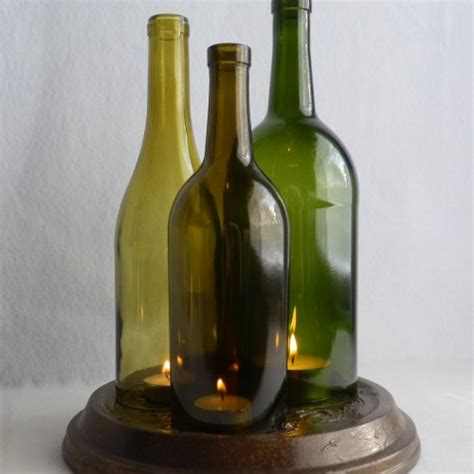 wine bottle candle holder 27 ideas on how to make wine bottle candle holders