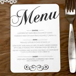 wedding menus vintage wedding menu doodlelove