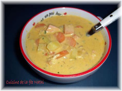 cuisiner carotte soupe de saumon au curry la cuisine de la fée nathi