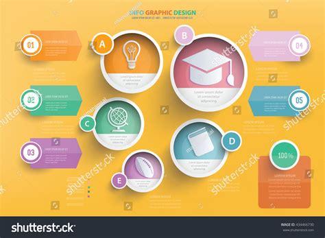 graphic designer education education info graphic designvector stock vector 434466730