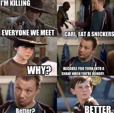Carl Meme Walking Dead - carl eat a snickers kill the hydra