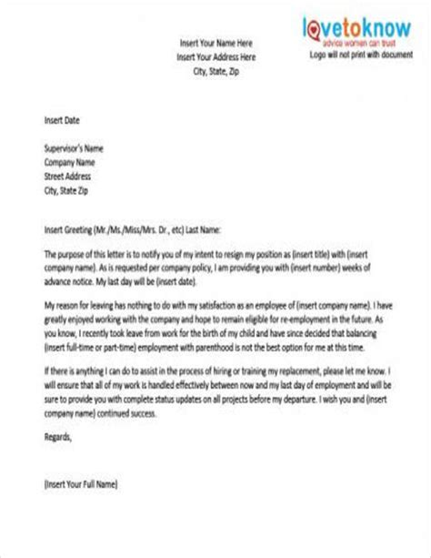 pregnancy resignation letters  word apple pages
