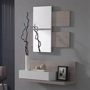 meuble d39entre avec miroir blanc et bois avec tiroir With petit meuble d entree design 3 console design avec miroir meuble dentree moderne meuble