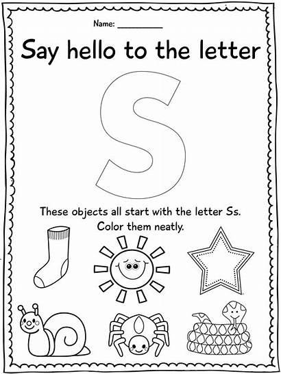Letter Preschool Kindergarten Activities Worksheets Worksheet Alphabet