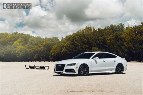 Wheel Offset 2014 Audi Rs7 Flush Stock Custom Rims