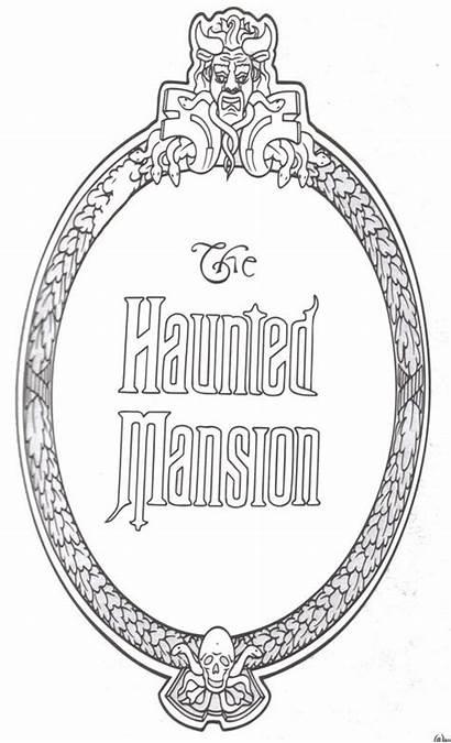 Clipart Haunted Mansion Disney Disneyland Coloring Orleans