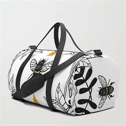 Bee Queen Duffle Bag Bees Society6 Purse
