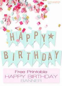 Free printable happy birthday banner large party banner for Happy birthday big letters