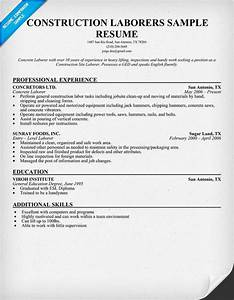 construction worker resume template construction worker With construction worker resume