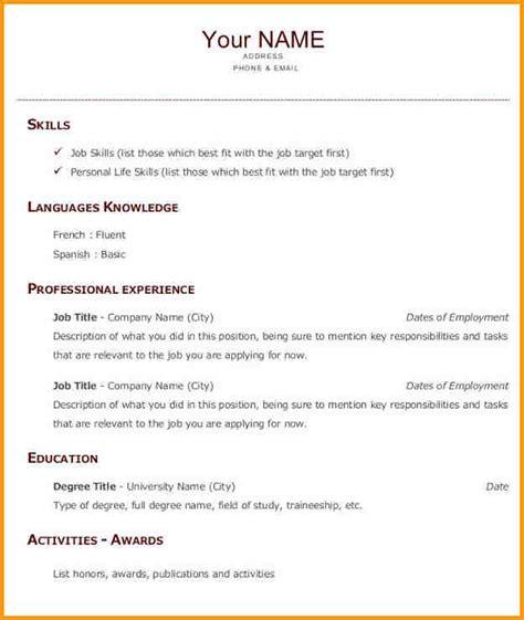 Exemple Cv Anglais by Mod 232 Le Cv Anglais Lusocarrelage