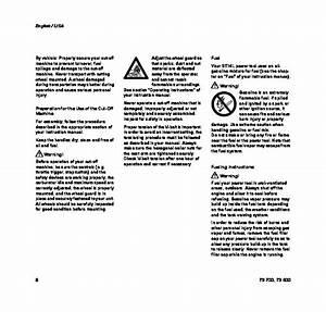 Stihl Ts 700 800 Cut Off Saw Miter Circular Saw Owners Manual