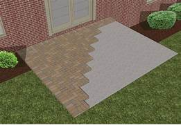 Adding Pavers To Concrete Patio Decorate Beautiful Lay Pavers 338107 Home Design Ideas