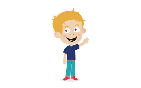 Dylan Waving By Jevs Illustration On Storybird