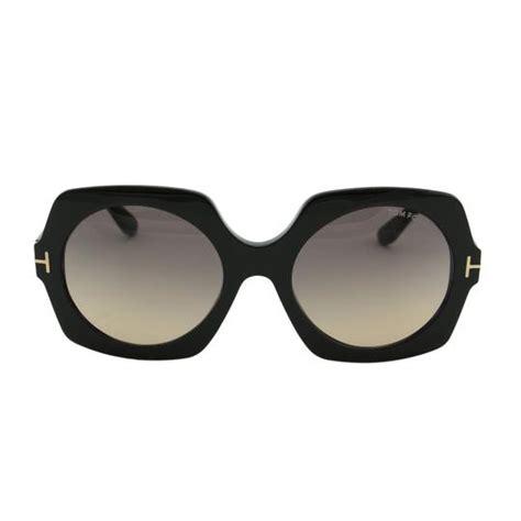 tom ford black new tf sofia ft0535 01b square thick frame t logo sunglasses tradesy