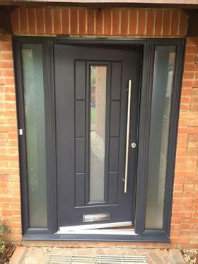 grey flush aluminium windows patio doors  bicester oxfordshire