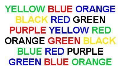 stroop color word test eldon books mind programming additional