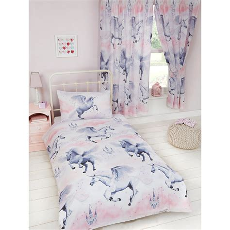 Little Girls Princess Bedroom by Pink Stardust Unicorn Single Duvet Cover Amp Pillowcase