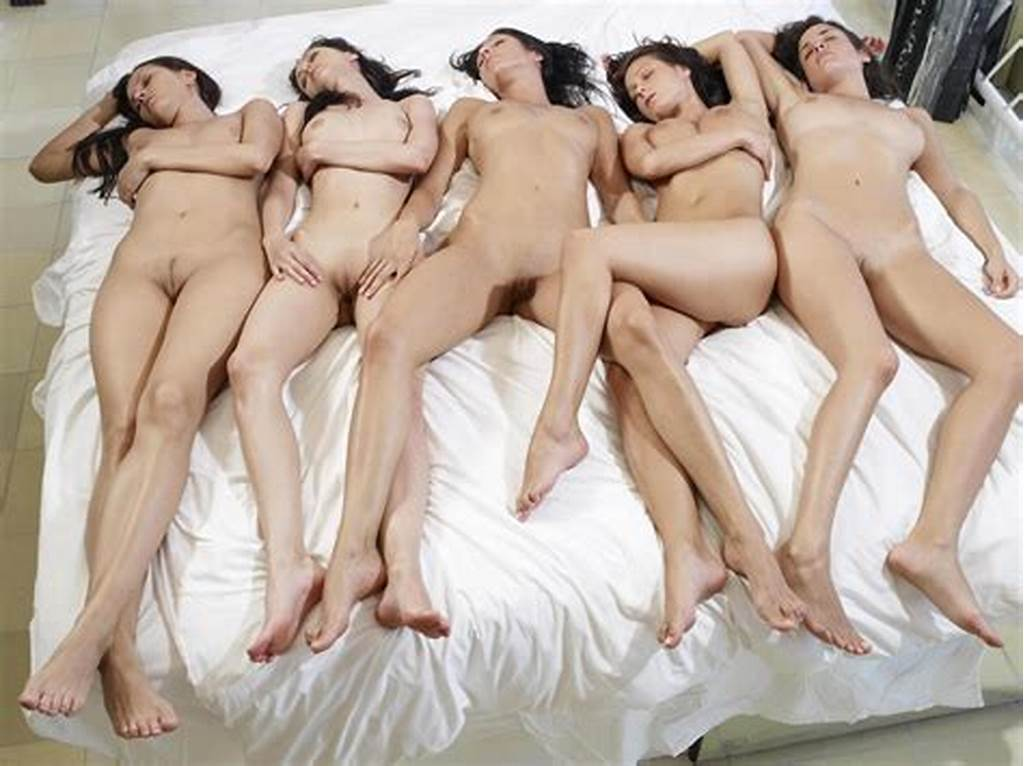#Group #Of #Girls #Naked #On #A #Bed