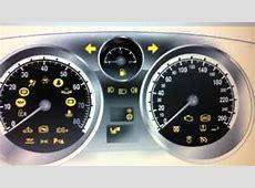 Vauxhall Zafira Dashboard Warning Lights & Symbols