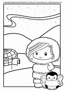 Eskimo Coloring Page For Kids Printable Coloring Sheet ...