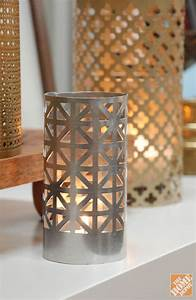DIY Gift Ideas: Aluminum Sheet Candle Holders