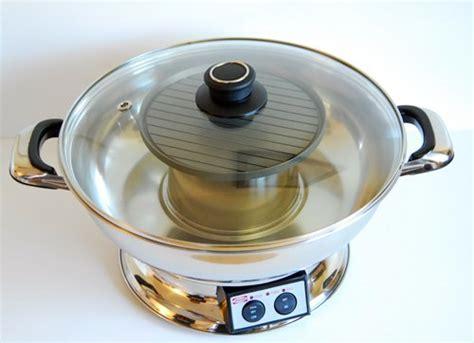 city ch8802 electric steamboat shabu shabu pot with bbq grill ebay