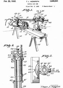 Theron Hedgpeth U2019s Patent Diagram For The Radial Arm Saw