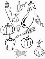 Vegetables Vegetable Coloring Pages Zoom sketch template