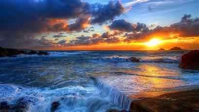 Sunset Summer Wallpapers Desktop Nature 3d Background