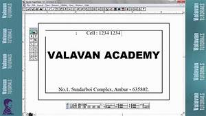 Visiting Card Create In Pagemaker Tutorial