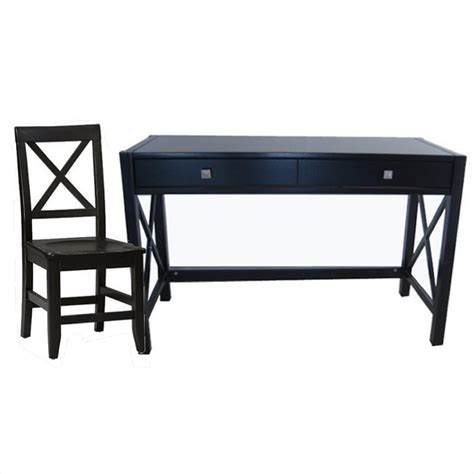 distressed wood computer desk linon anna wood writing desk w chair set in distressed