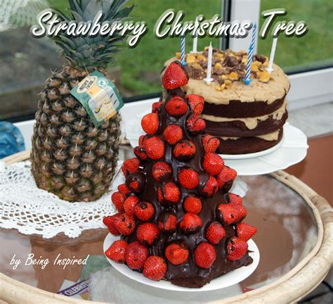 being inspired strawberry christmas tree