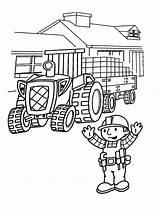 Coloring Builder Bob Printable Cartoon Mycoloring sketch template
