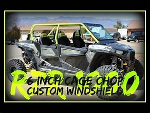 Polaris Rzr 1000 Roll Cage Chop Custom Windshield Half