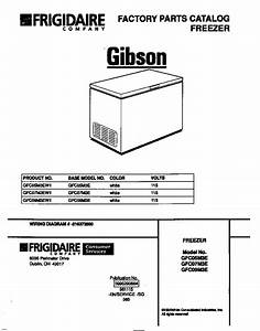 Looking For Gibson Model Gfc07m3ew1 Chest Freezer Repair