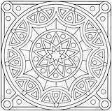 Coloring Mandala Square Pages Mandalas sketch template