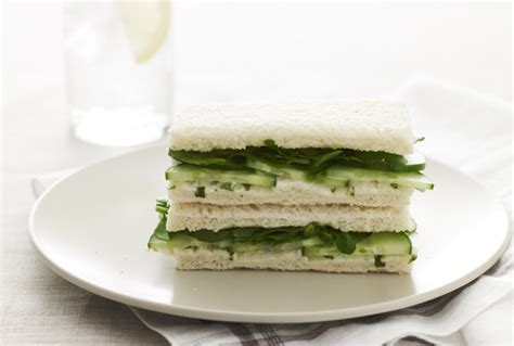 cucumber  watercress tea finger sandwiches jamie geller