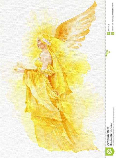 beautiful fairy  yellow stock image image