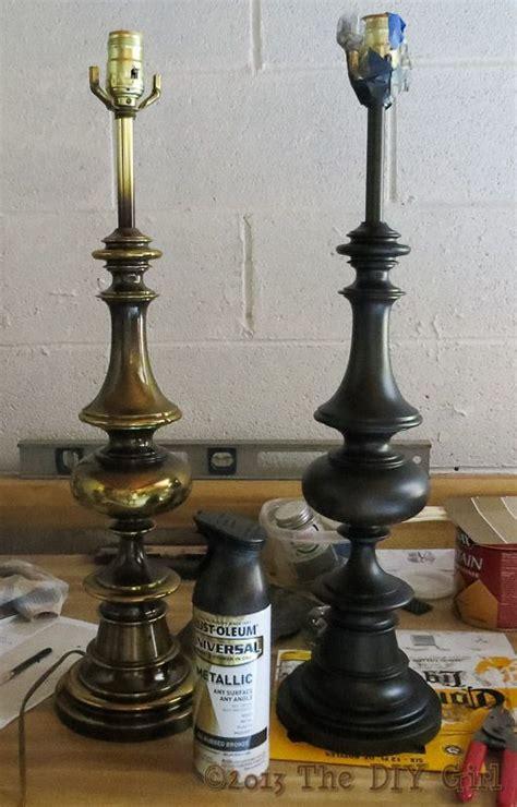 lamps update  rustoleum oiled bronze spray paint