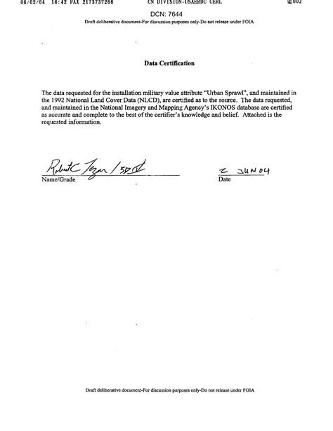 Data Certification Letter - Digital Library